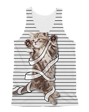 A little cat - Help me All-over Unisex Tank front
