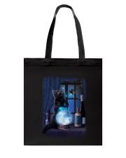 Black cat and magic ball Tote Bag thumbnail