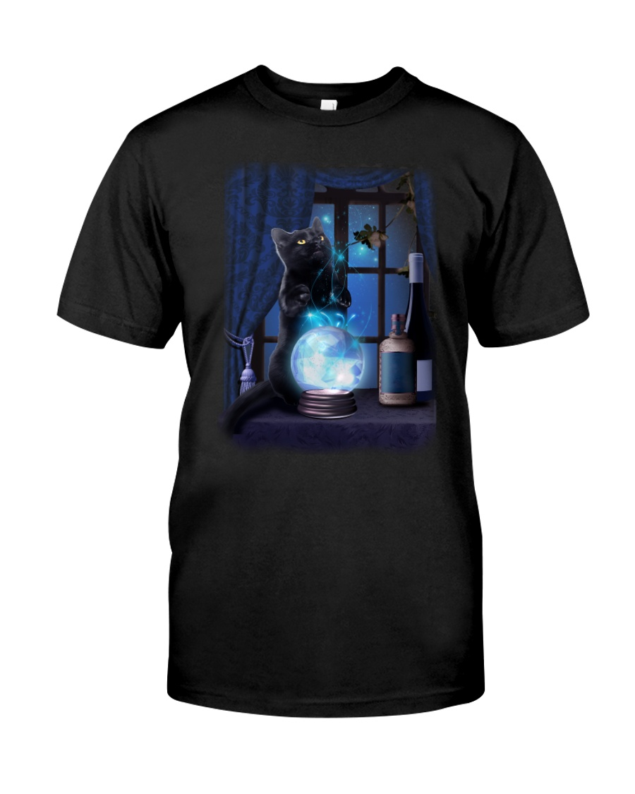 Black cat and magic ball Classic T-Shirt