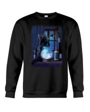 Black cat and magic ball Crewneck Sweatshirt thumbnail