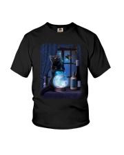 Black cat and magic ball Youth T-Shirt thumbnail
