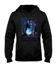 Black cat and magic ball Hooded Sweatshirt thumbnail