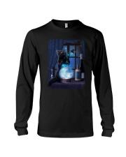 Black cat and magic ball Long Sleeve Tee thumbnail
