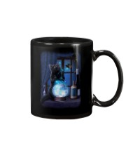 Black cat and magic ball Mug thumbnail