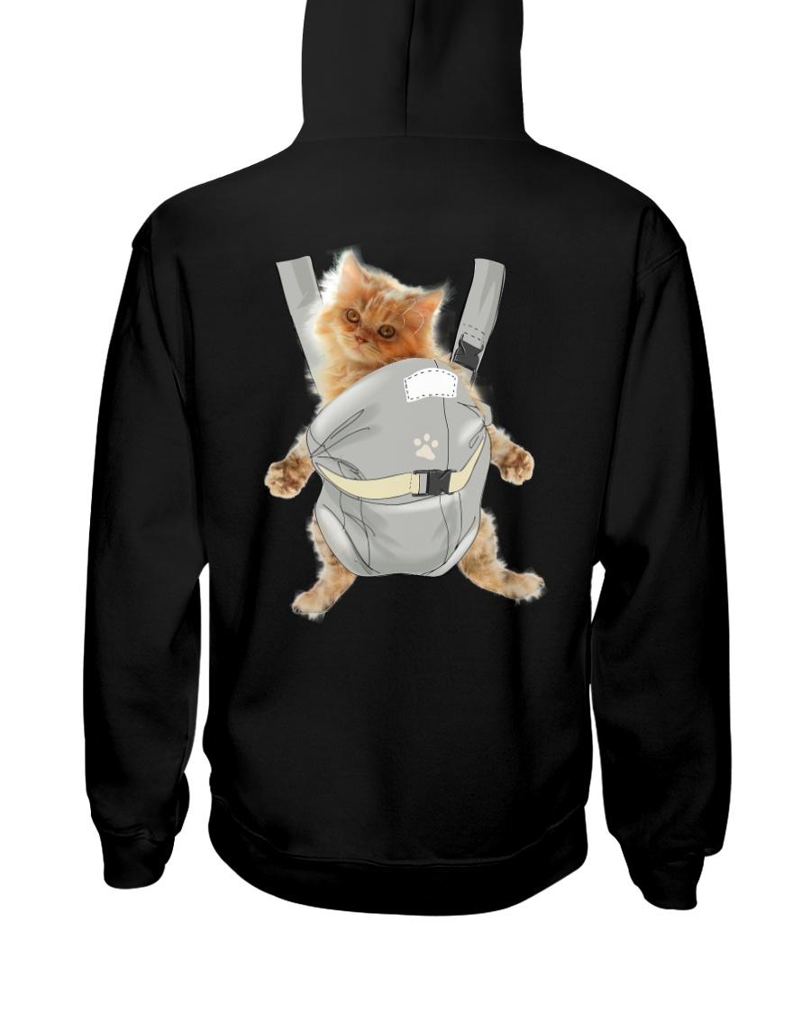 Persian cat carrier backpack 1012 Hooded Sweatshirt