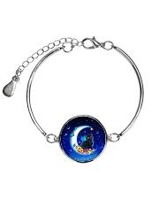 Black Cat on Moon 1112 Metallic Circle Bracelet thumbnail