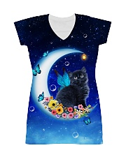 Black Cat on Moon 1112 All-over Dress thumbnail