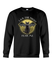 Black cat I am the night 1710 Crewneck Sweatshirt thumbnail