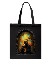 Black Cat Halloween Night Tote Bag thumbnail