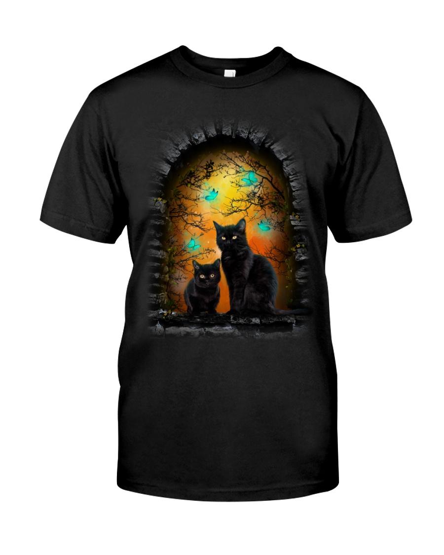Black Cat Halloween Night Classic T-Shirt