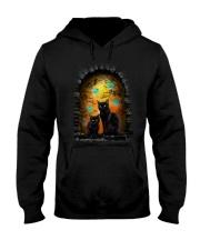 Black Cat Halloween Night Hooded Sweatshirt thumbnail