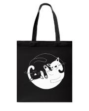 Yin Yang Cat Tote Bag thumbnail