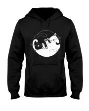 Yin Yang Cat Hooded Sweatshirt thumbnail