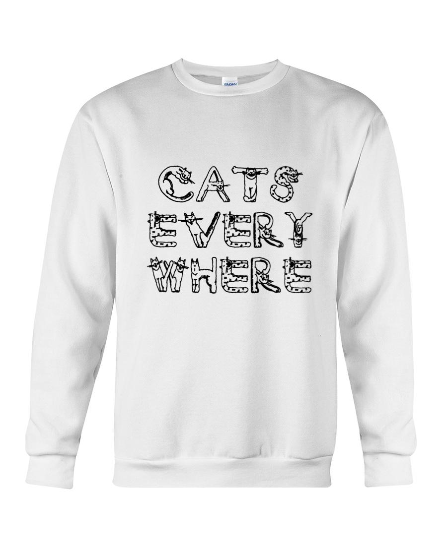 Cat Every Where Crewneck Sweatshirt