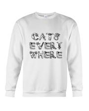 Cat Every Where Crewneck Sweatshirt front
