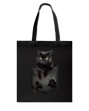 Black cat pocket 1311 Tote Bag thumbnail