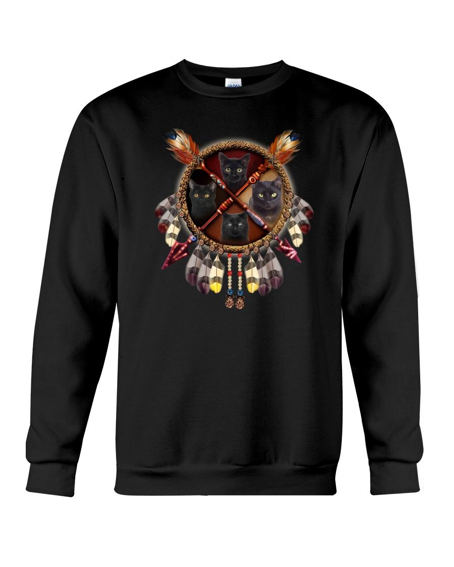Black cat dreamcatcher Crewneck Sweatshirt
