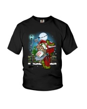 Cat and Santa mail Youth T-Shirt tile