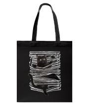 Black Cat And Window Blinds Tote Bag thumbnail