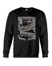 Black Cat And Window Blinds Crewneck Sweatshirt thumbnail