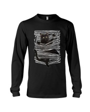Black Cat And Window Blinds Long Sleeve Tee thumbnail