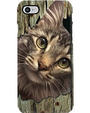 Cat On Wood 7119 Phone Case tile