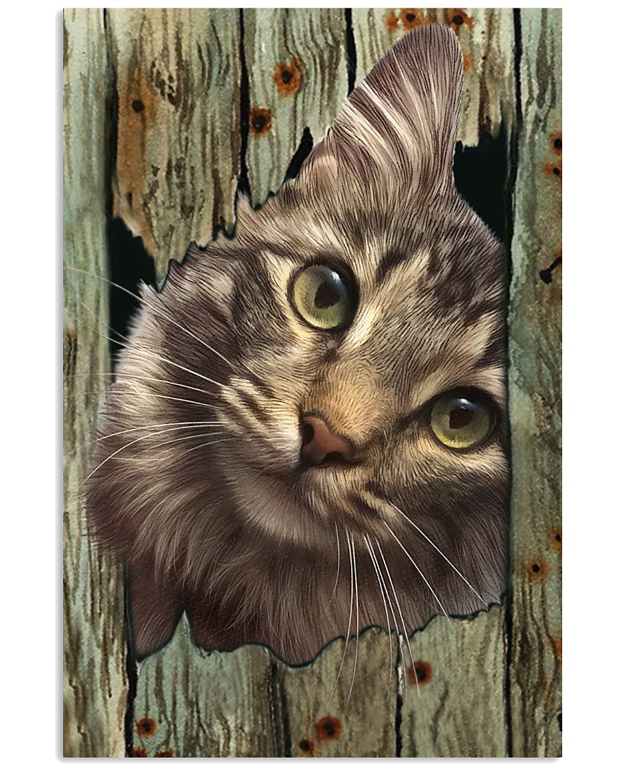 Cat On Wood 7119 11x17 Poster