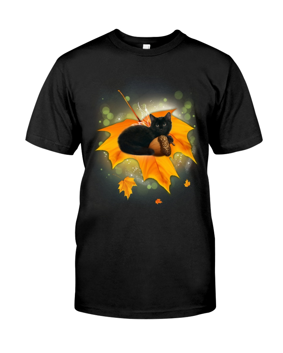 Black Cat Leaf Classic T-Shirt