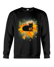 Black Cat Leaf Crewneck Sweatshirt thumbnail