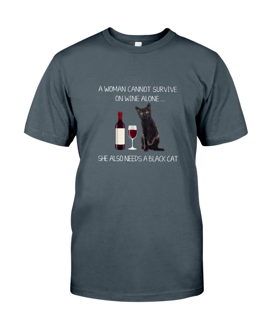 Black Cat and Wine Classic T-Shirt