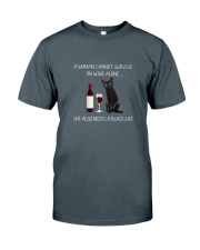 Black Cat and Wine Classic T-Shirt front