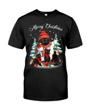Black Cat And Snowman Costume Classic T-Shirt thumbnail