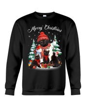 Black Cat And Snowman Costume Crewneck Sweatshirt thumbnail