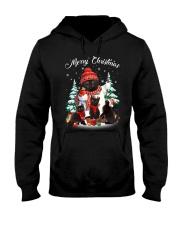 Black Cat And Snowman Costume Hooded Sweatshirt thumbnail
