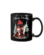 Black Cat And Snowman Costume Mug thumbnail