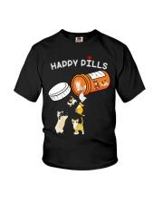 Cat Happy Pills Youth T-Shirt thumbnail