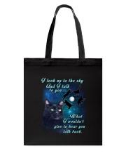 Black cat sky Tote Bag thumbnail