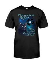 Black cat sky Classic T-Shirt front