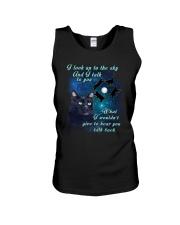 Black cat sky Unisex Tank thumbnail