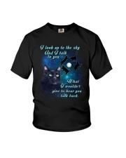 Black cat sky Youth T-Shirt thumbnail