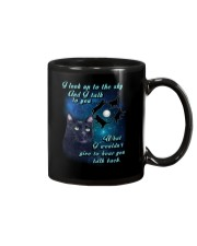 Black cat sky Mug thumbnail