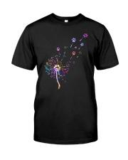 Cat Paw and dandelion Classic T-Shirt thumbnail