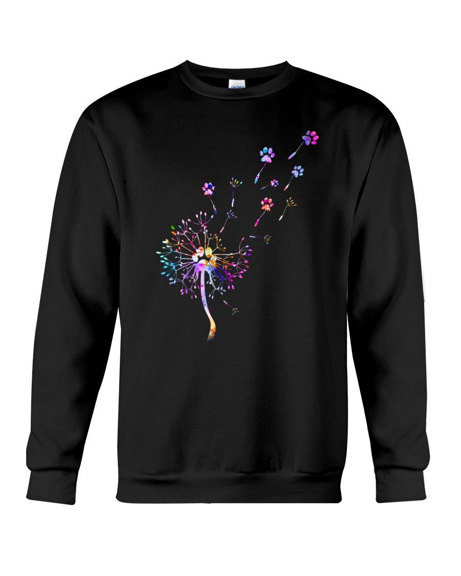 Cat Paw and dandelion Crewneck Sweatshirt