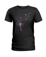 Cat Paw and dandelion Ladies T-Shirt thumbnail