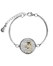 Cat mummy 2008 Metallic Circle Bracelet tile