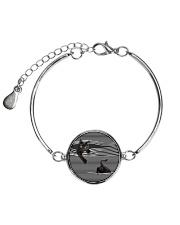 Black Cat Striped Many Color  Metallic Circle Bracelet thumbnail