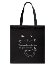 Cat in your heart Tote Bag thumbnail