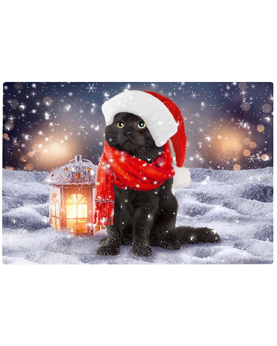 Black Cat Christmas Rectangle Cutting Board