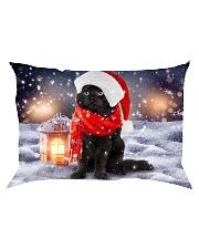 Black Cat Christmas Rectangular Pillowcase thumbnail