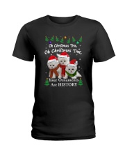 Persian Cat Ornaments Tree 2210  Ladies T-Shirt thumbnail
